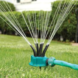 360°garden automatic multi-head sprinkler watering sprinkler shower head