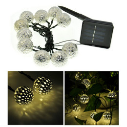 Solar 10 Balls Morocco String Lights Fairy Lights
