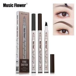 Music Flower Brand Makeup Fine Sketch Liquid Eyebrow Pen