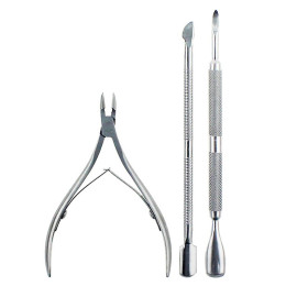 Three-Piece Stainless Steel Nail Care Set