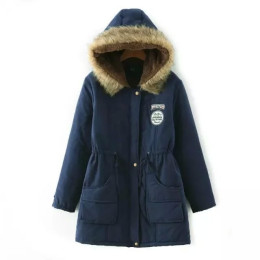 Super Warm Women's Winter Thicken Hooded Fleece Lining Padded Coat