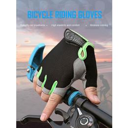 Outdoor half finger thin disc net sports gloves