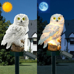 Owl waterproof garden lights Waterproof with Sensor System High Conversion Solar Panel