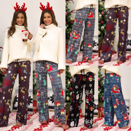 Comfortable Christmas Printed Long Pants