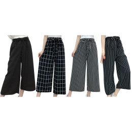 Wide pants with high waist