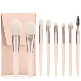 8 piece travel portable makeup brush set
