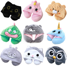 Cute Hooded Neck Pillow