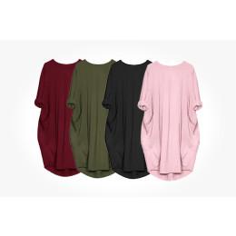 Casual loose pocket long sleeve dress