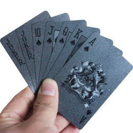 Black Diamond Card Waterproof Plastic Foil Poker