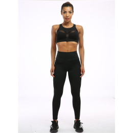 High waist  Training tights pants with pocket