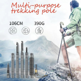Carbon steel multi-purpose trekking pole