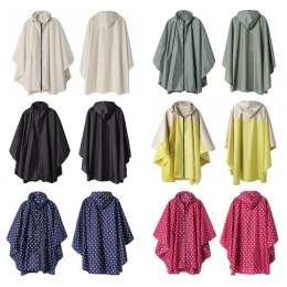Women's stylish waterproof rain poncho
