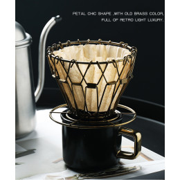 Portable folding coffee filter