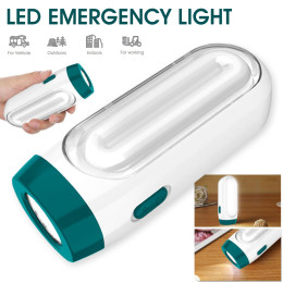Portable emergency LED flashlight