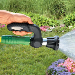 Hand held pressurized water nozzle