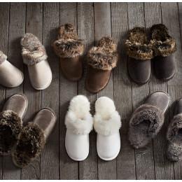 Men's/Women's Faux Fur House Bedroom Indoor/Outdoor Winter Slipper