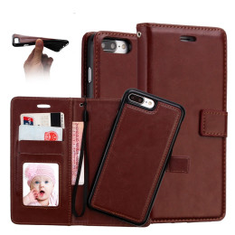 Luxury Crazy Horse PU leather Flip Wallet Case