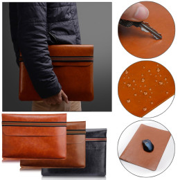 Laptop Sleeve PU Leather Carry Bag