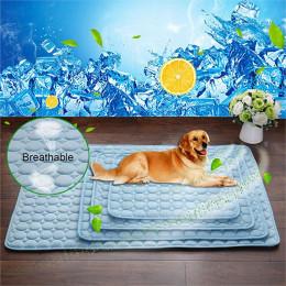 Pure color ice silk mat pet mat