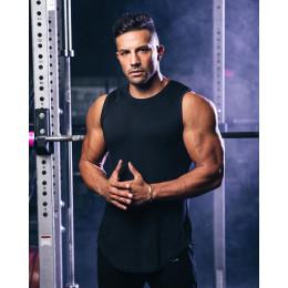 Pure color sports fitness vest for men
