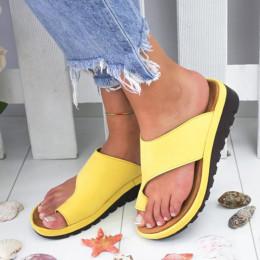 Women's solid color slip-on sandals plus size