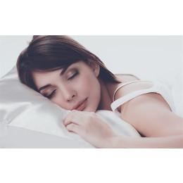 Pure color single ice silk pillowcase