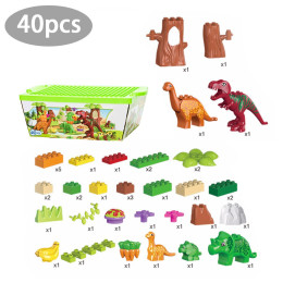 Puzzle dinosaur building block paradise set