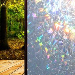 3D No Glue Static Decorative Privacy Window Rainbow Films