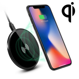 Round Qi Wireless Charger Fast Charging Pad for iphone