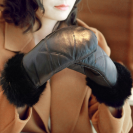 Super Warm Soft Sheepskin Gloves For Women
