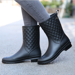 Leather Boot Rain Shoes