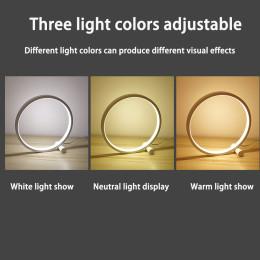 Round Acrylic LED Table Lamp
