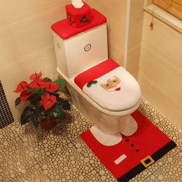 3Pcs/set Christmas Santa Toilet Seat Cover