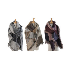 Thickening tassel burrs grid scarves