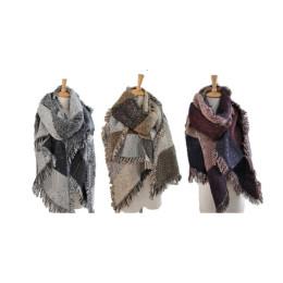 Thickening tassel burrs grid scarves