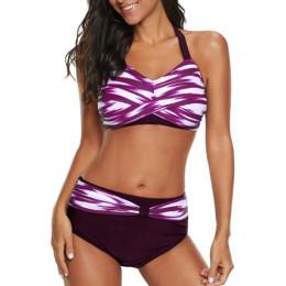 Sexy pattern split bikini