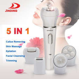 5 in 1 Facial Hair Removal Cordless Wet&Dry Epilator