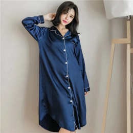 Women's Long-Sleeve Super-Soft Button-Down Pajama Shirt