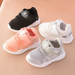 Net breathable pink leisure sports running shoes
