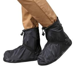 Black Rainproof Shoe Cover Waterproof Reusable