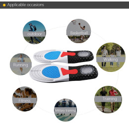 Silicone shock absorbing insole