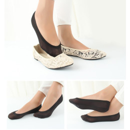 Women Summer Ice Silk Invisible Boat Socks