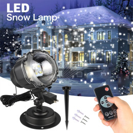 LED Christmas Moving Snowfall Laser Projector Lamps