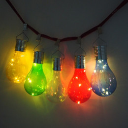 Solar Lamp Waterproof Colorful Outdoor Garden Decoration Bulb