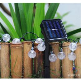 Solar Lamp Crystal Ball LED String Lights Flash