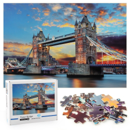 1000 Pieces Jigsaw Puzzle, Tower Bridge Floor Puzzle for Kids Adult