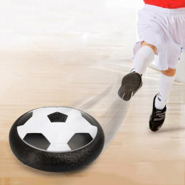 1Pcs Funny LED Light Flashing Arrival Air Power Soccer Disc Indoor Football Toy
