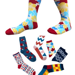 Unisex Live Happy Adult Unisex Cotton Socks with Fun Designs