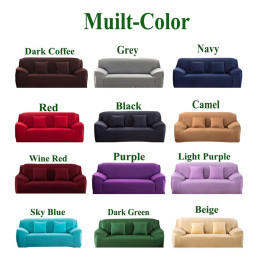 Elasticity Stretch Couch Cover pure Solid Color Sofa Covers