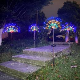 Solar ground plug firework light